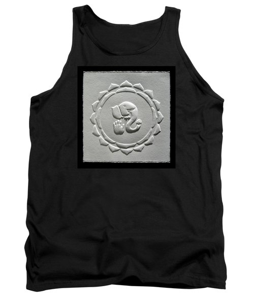 Tank Top featuring the relief Ganesha Blessings by Suhas Tavkar