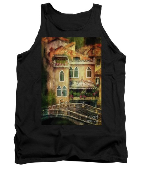 Gardening Venice Style Tank Top by Lois Bryan