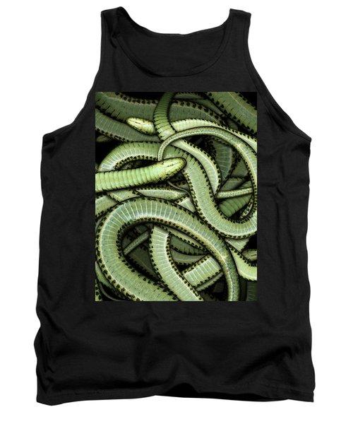 Garter Snakes Pattern Tank Top by James Larkin