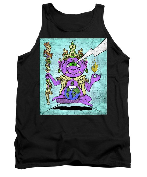 Gautama Buddha Colour Illustration Tank Top
