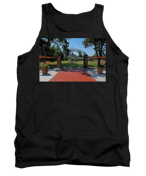 Tank Top featuring the photograph Gazebo At Celebration Park by Judy Vincent