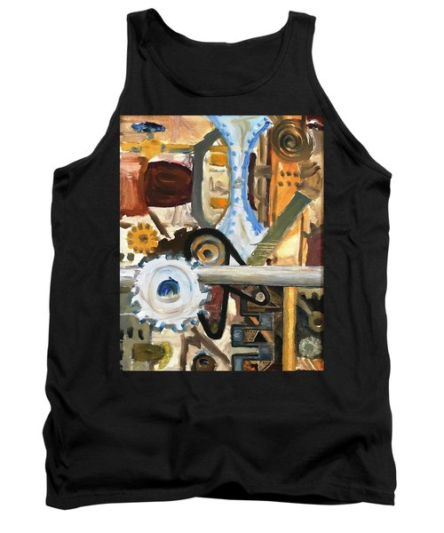 Gears In The Machine Tank Top