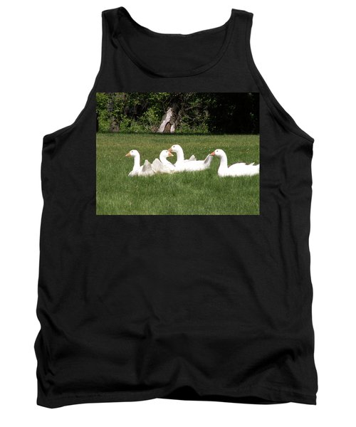 Geese In The Grass Tank Top