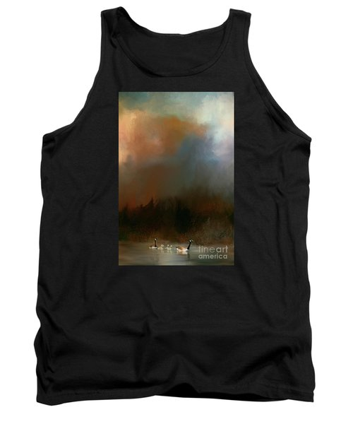 Geese On A Nh Lake Tank Top by Mim White