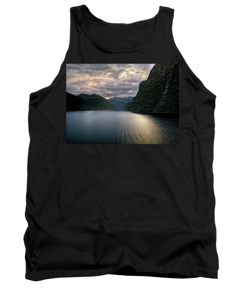 Geiranger Fjord Tank Top by Jim Hill