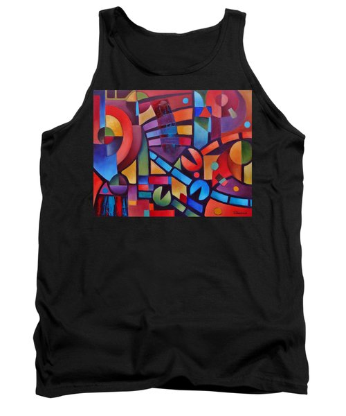Geometric Music Tank Top