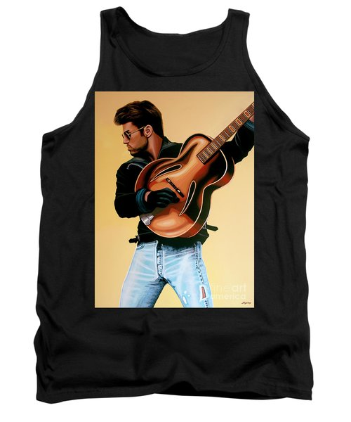 George Michael Painting Tank Top by Paul Meijering