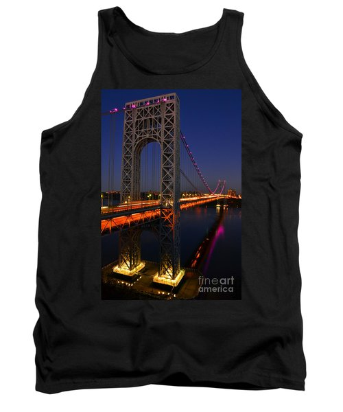 George Washington Bridge At Night Tank Top