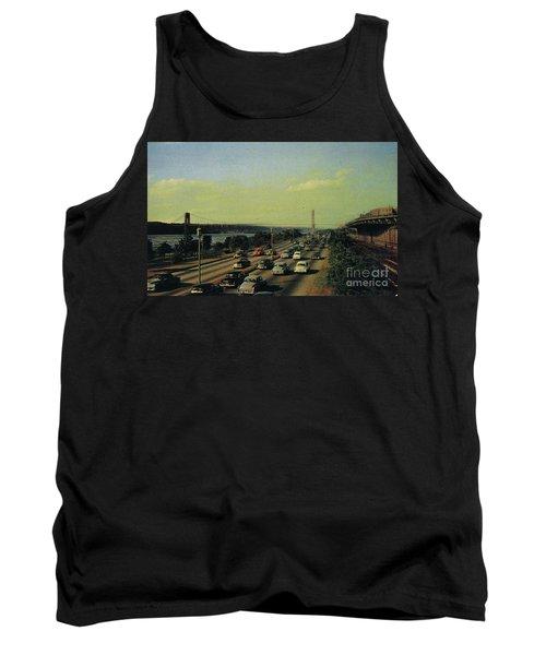 Tank Top featuring the photograph George Washington Bridge  by Cole Thompson