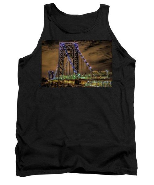 Tank Top featuring the photograph George Washington Bridge by Theodore Jones