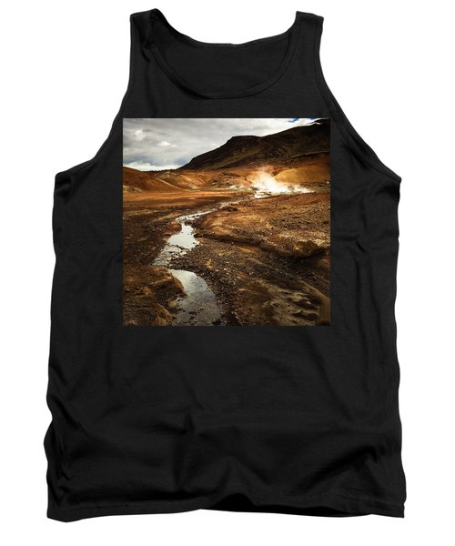 Geothermal Area Krysuvik In Iceland Tank Top