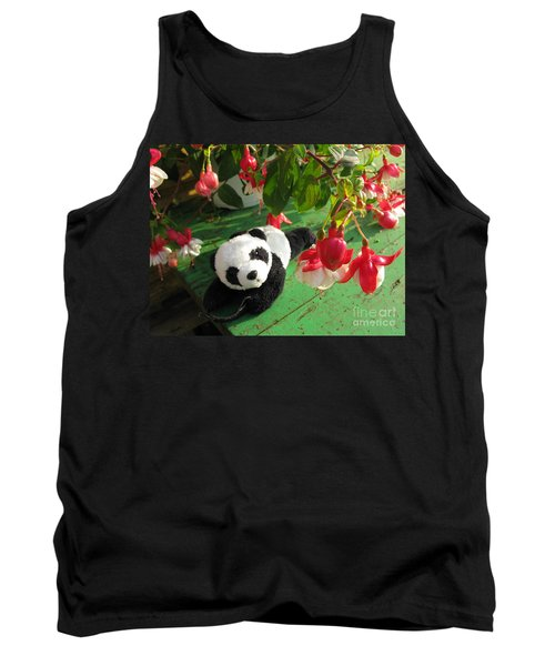 Tank Top featuring the photograph Ginny Under The Red And White Fuchsia by Ausra Huntington nee Paulauskaite