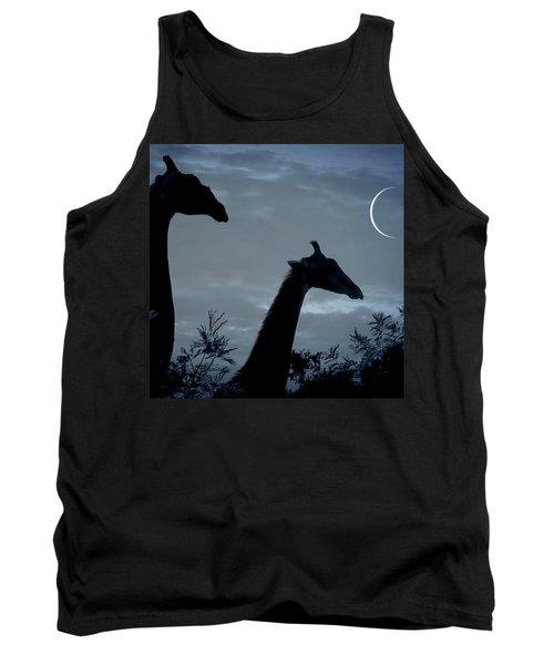 Giraffe Moon  Tank Top