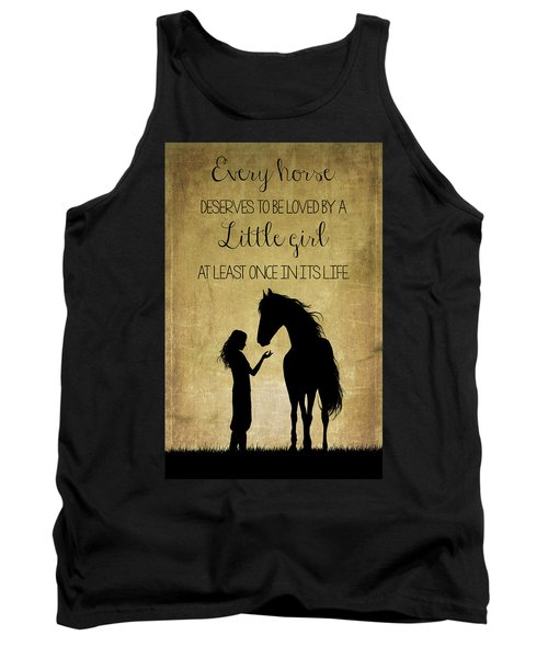 Girl And Horse Silhouette Tank Top
