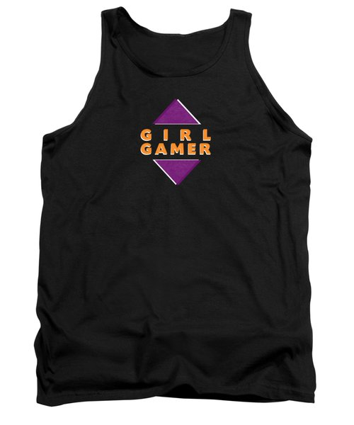 Tank Top featuring the mixed media Girl Gamer by Linda Woods