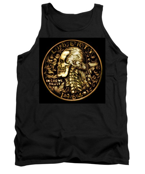 Give Me Liberty Or Give Me Death Tank Top by Fred Larucci