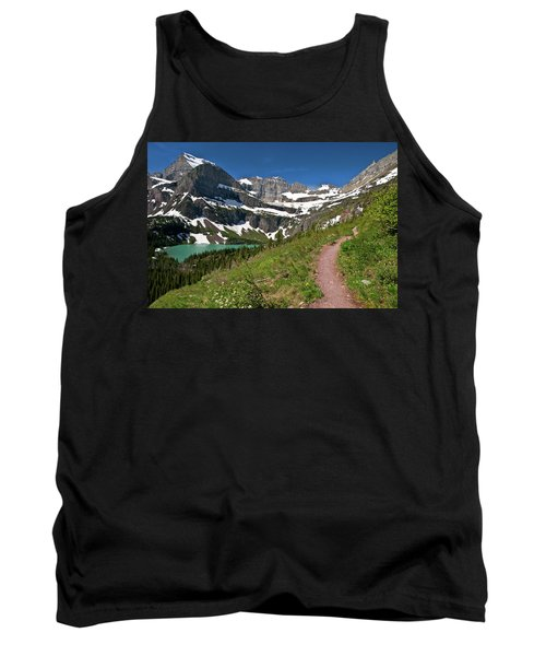 Tank Top featuring the photograph Glacier Backcountry Trail by Gary Lengyel