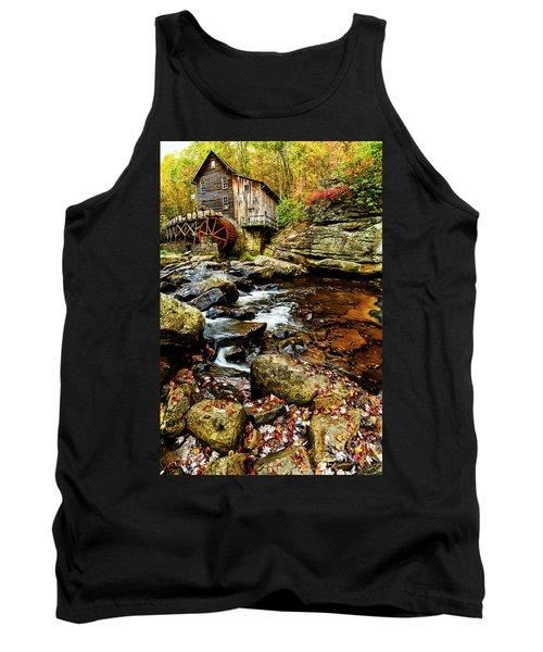 Glade Creek Grist Mill Fall  Tank Top