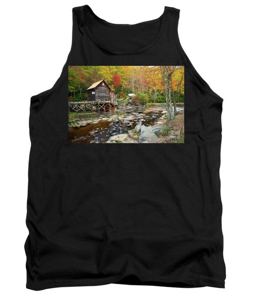 Glade Creek Grist Mill In Autumn Tank Top
