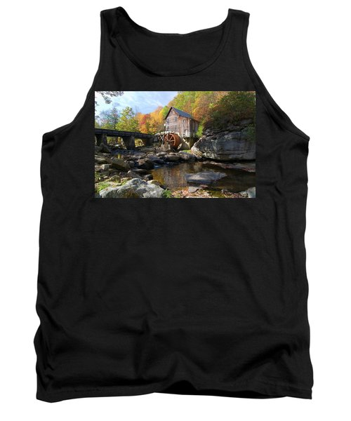 Tank Top featuring the photograph Glade Creek Grist Mill by Steve Stuller