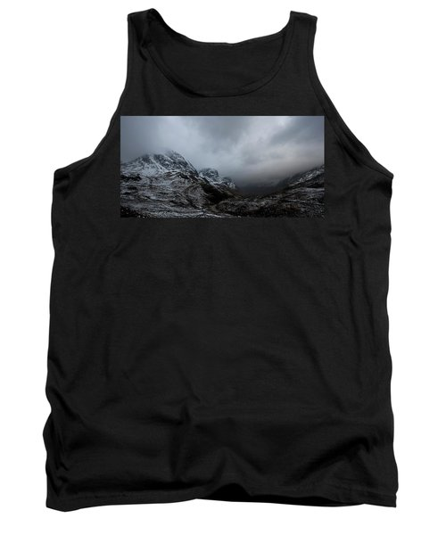 Tank Top featuring the digital art Glencoe - Three Sisters by Pat Speirs