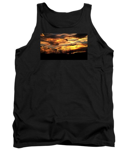 Glorious Maine Sunset Tank Top by Mike Breau