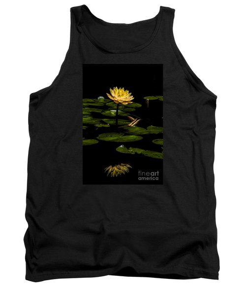 Tank Top featuring the photograph Glowing Waterlily by Barbara Bowen