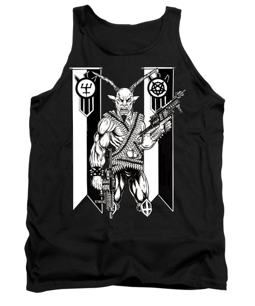 Goat War Black Tank Top by Alaric Barca