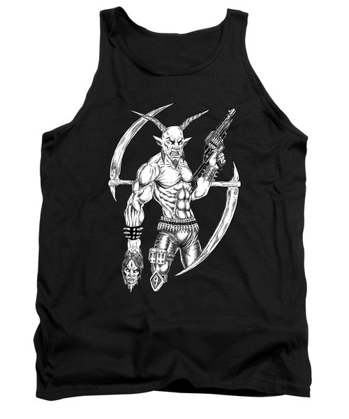 Goatlord Reaper Tank Top by Alaric Barca