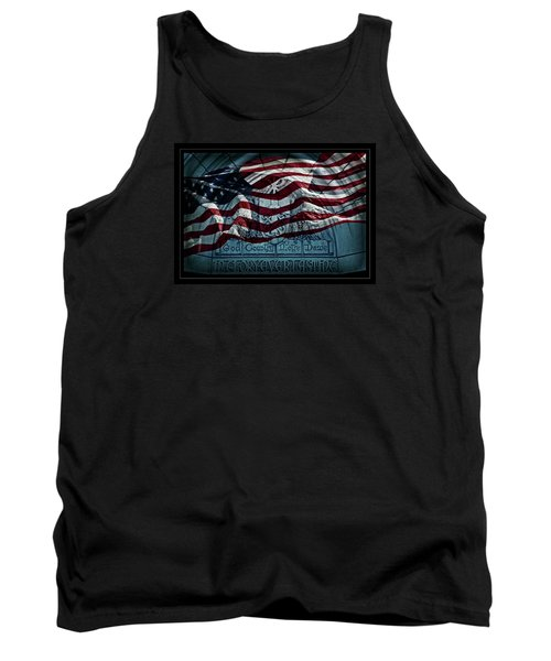 God Country Notre Dame American Flag Tank Top by John Stephens