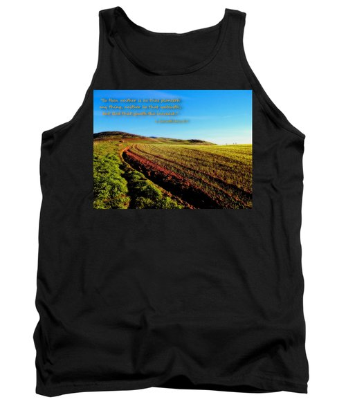 Tank Top featuring the photograph God Gives The Increase by Glenn McCarthy