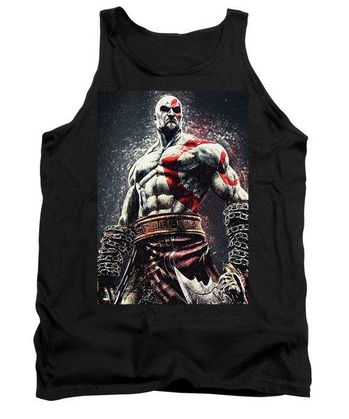God Of War - Kratos Tank Top by Taylan Apukovska