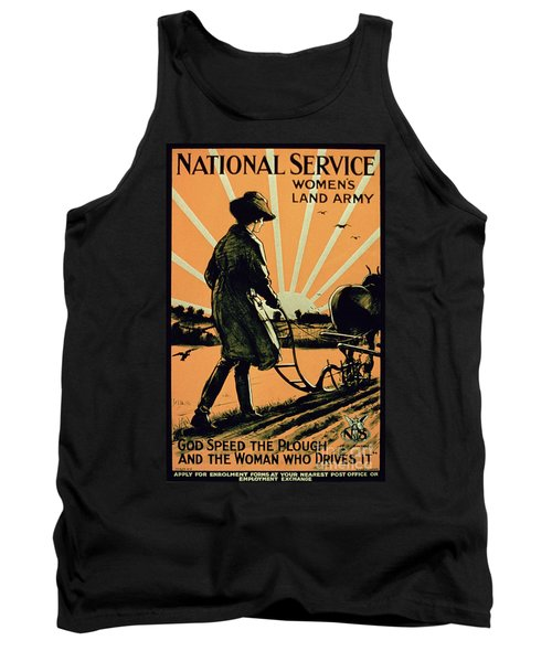 God Speed The Plough And The Woman Who Drives It Tank Top