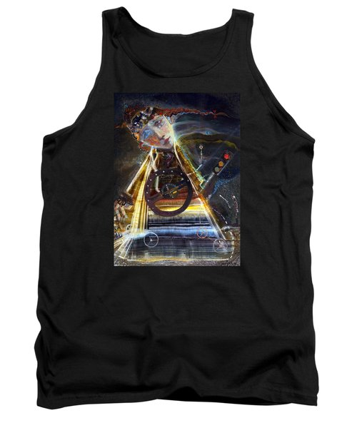 Going On Red Light Tank Top by Mikhail Savchenko