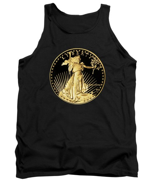 Tank Top featuring the photograph Gold Coin Front by Phyllis Denton