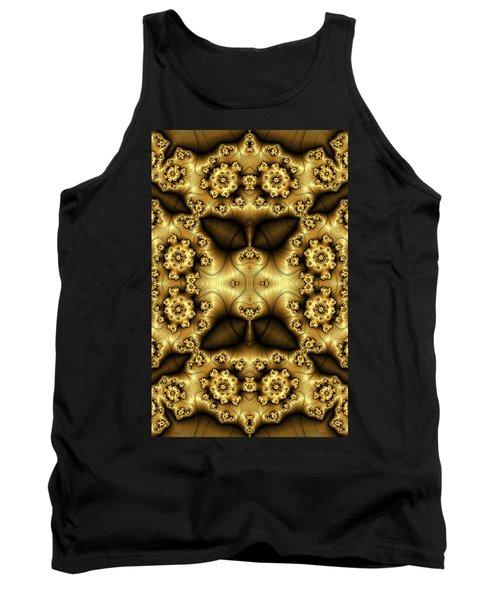 Gold N Brown Phone Case Tank Top by Lea Wiggins
