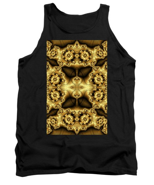Gold N Brown Phone Case Tank Top