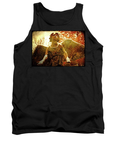 Tank Top featuring the photograph Golden Angel Of Hope by Jean Haynes