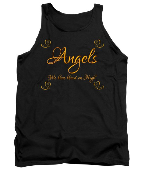 Golden Angels We Have Heard On High With Hearts Tank Top