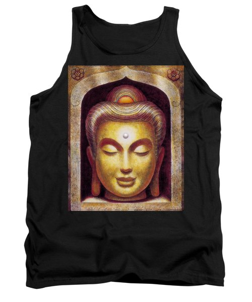 Tank Top featuring the painting Golden Buddha by Sue Halstenberg