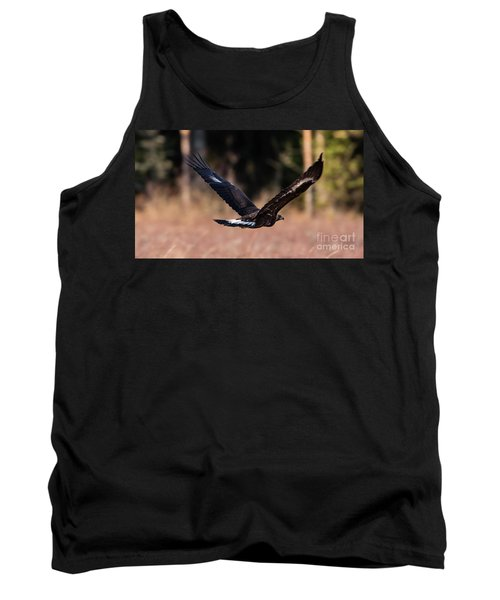 Tank Top featuring the photograph Golden Eagle Flying by Torbjorn Swenelius