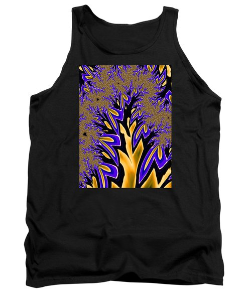 Tank Top featuring the photograph Golden Fractal Tree by Ronda Broatch