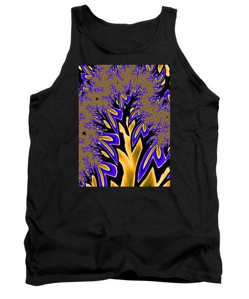 Golden Fractal Tree Tank Top