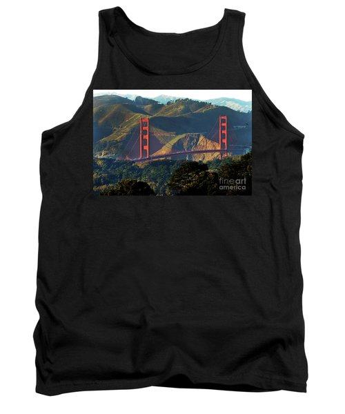 Tank Top featuring the photograph Golden Gate Bridge by Steven Spak