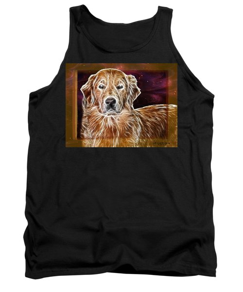 Tank Top featuring the photograph Golden Glowing Retriever by EricaMaxine  Price