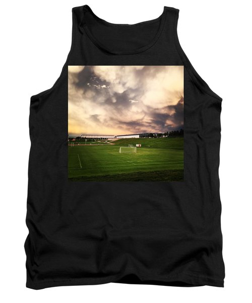 Golden Goal Tank Top by Christin Brodie