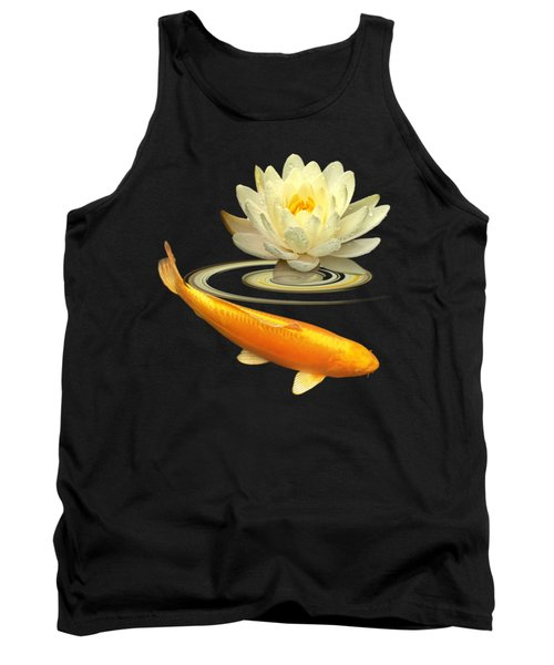 Golden Harmony Square Tank Top by Gill Billington