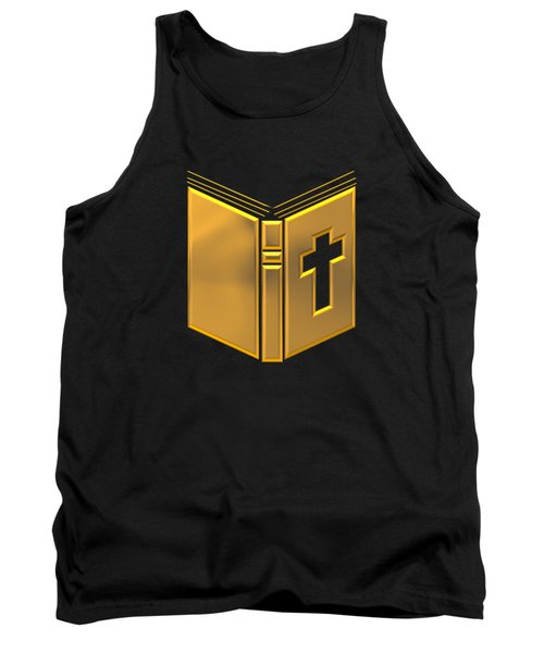 Golden Holy Bible Tank Top by Rose Santuci-Sofranko