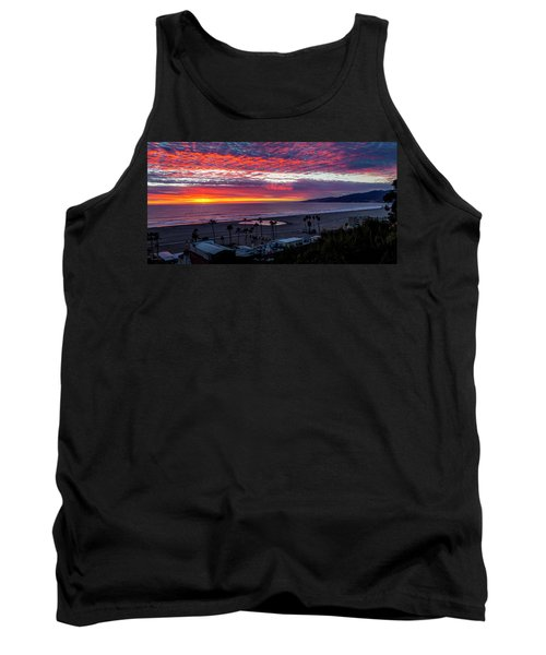 Golden Horizon At Sunset -  Panorama Tank Top