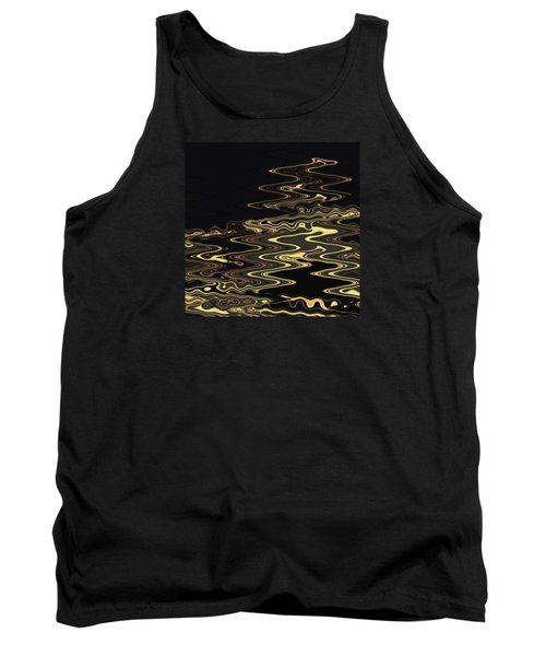 Golden Shimmers On A Dark Sea Tank Top